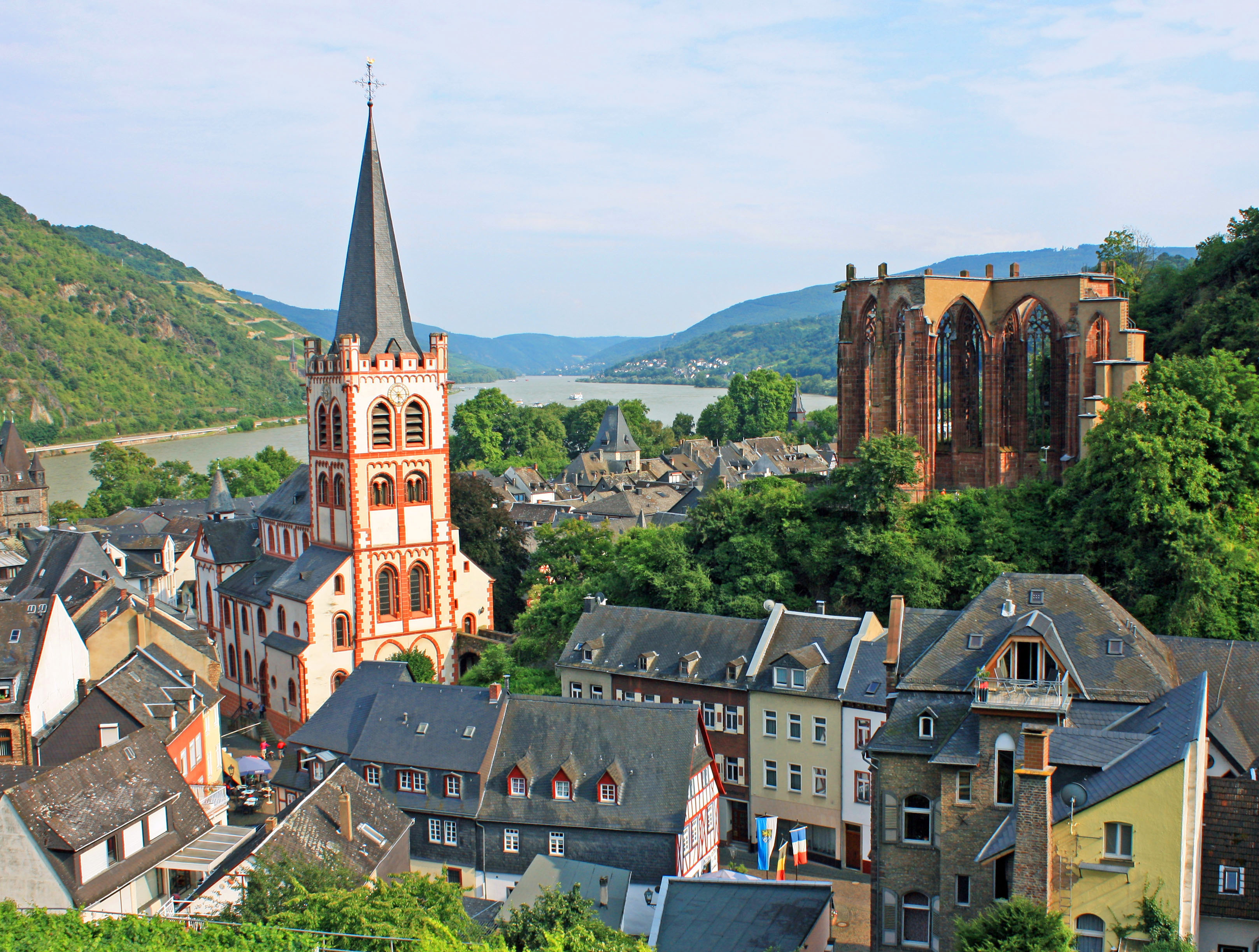 Bacharach, one of the best-preserved medieval towns in Germany.