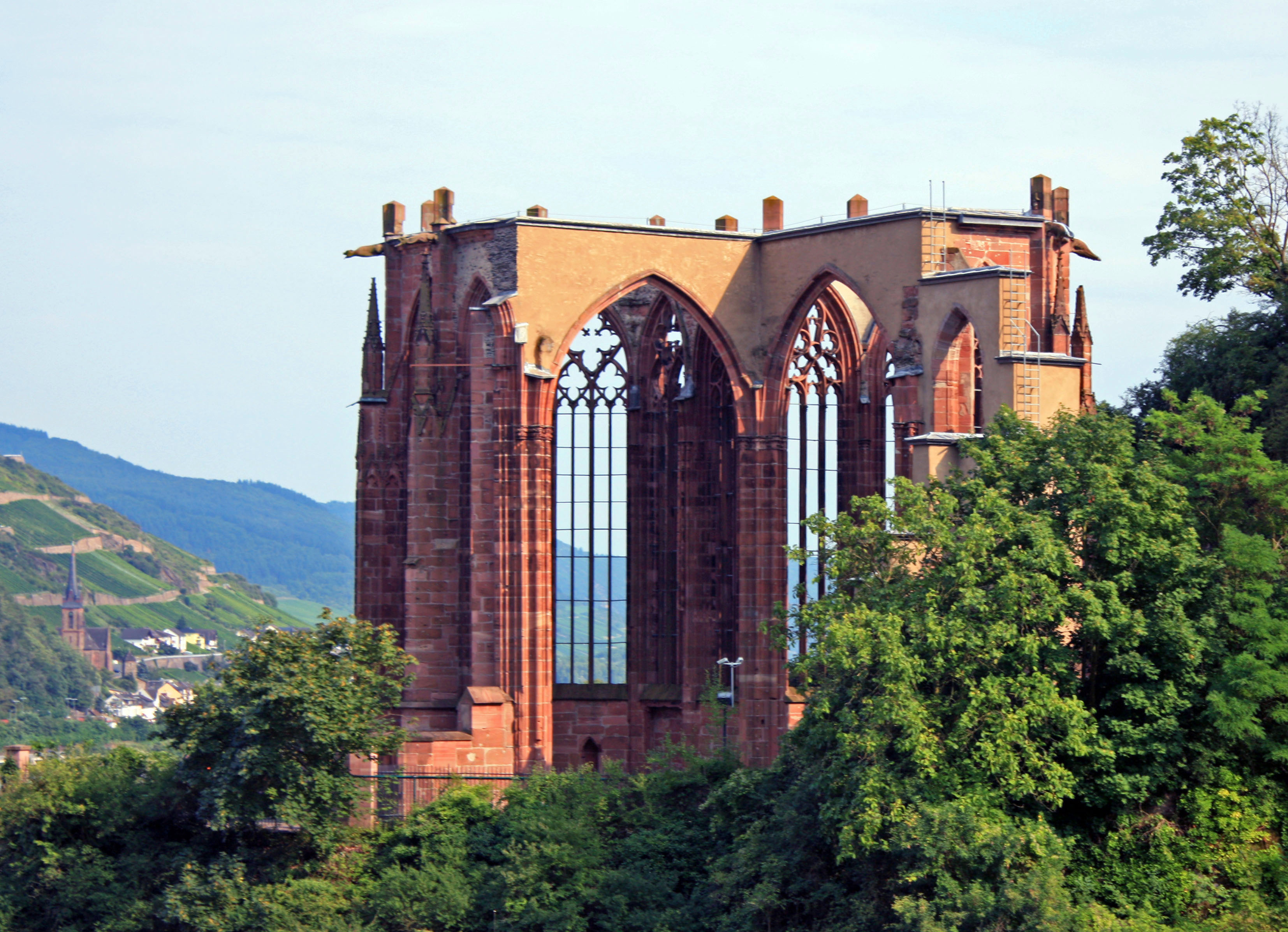 The ruins of Saint Werner's Chapel in Bacharach.