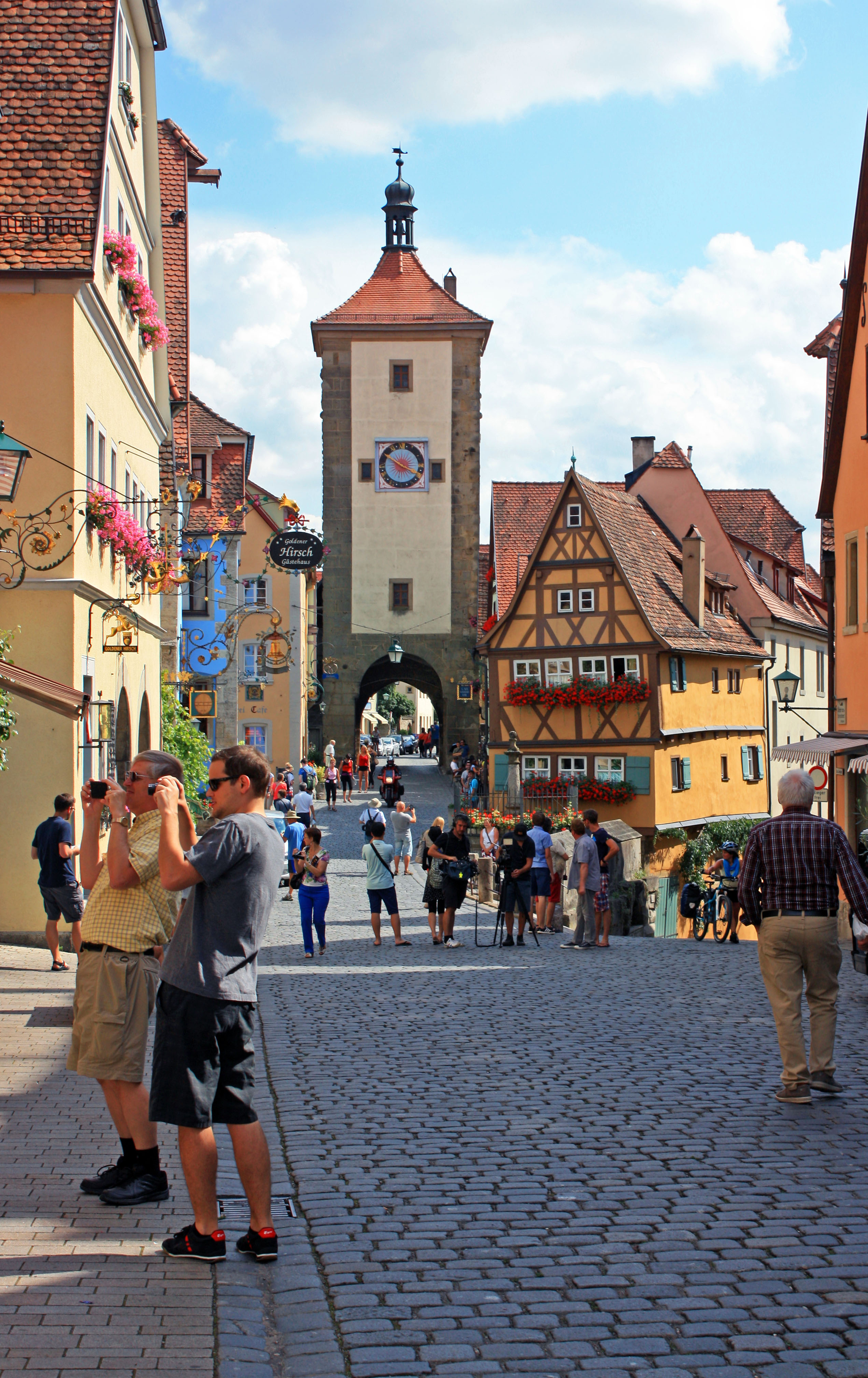 Rodge and Kevin explore Rothenburg.