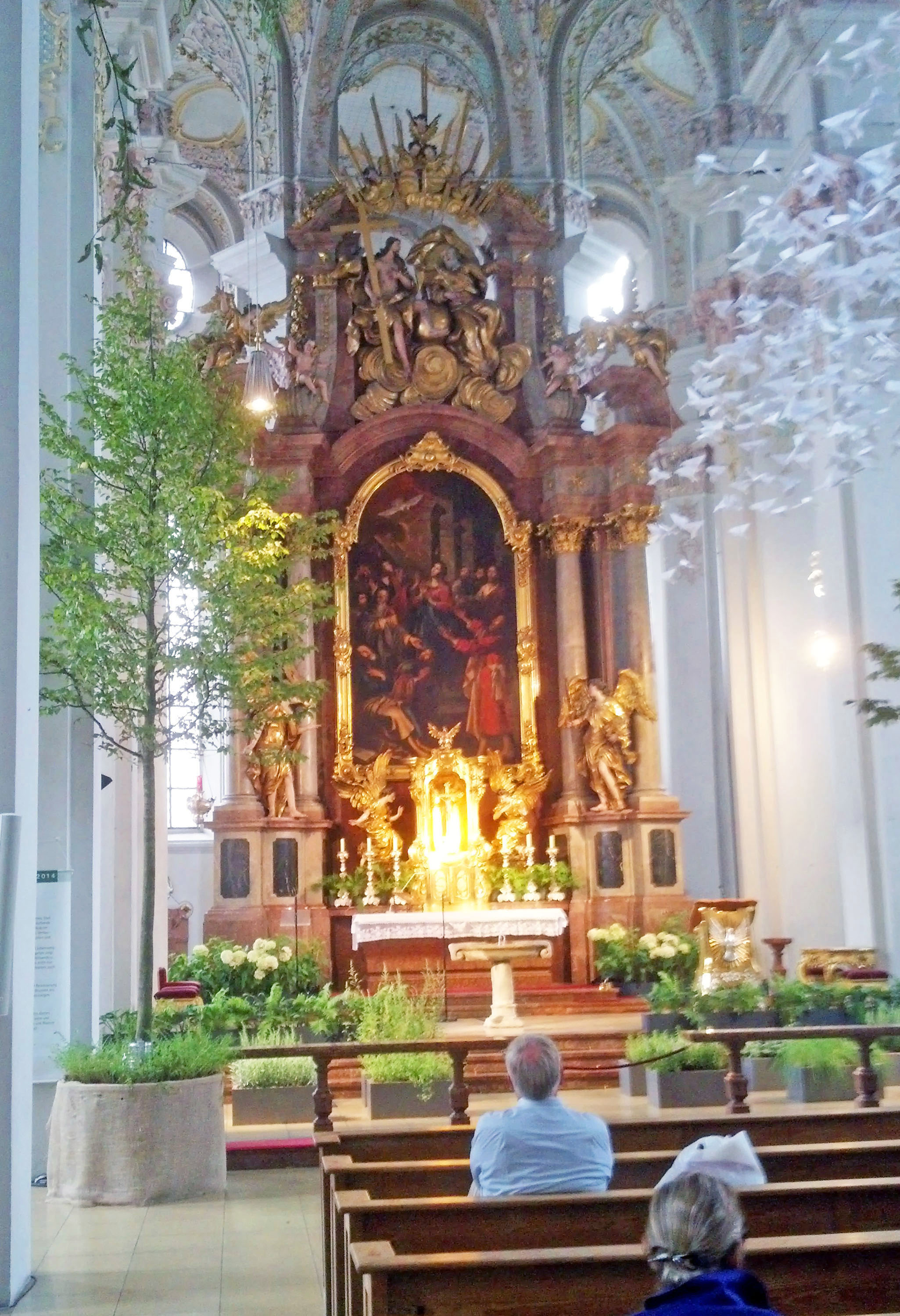 """Garden of Eden"" display in the Holy Ghost Church."