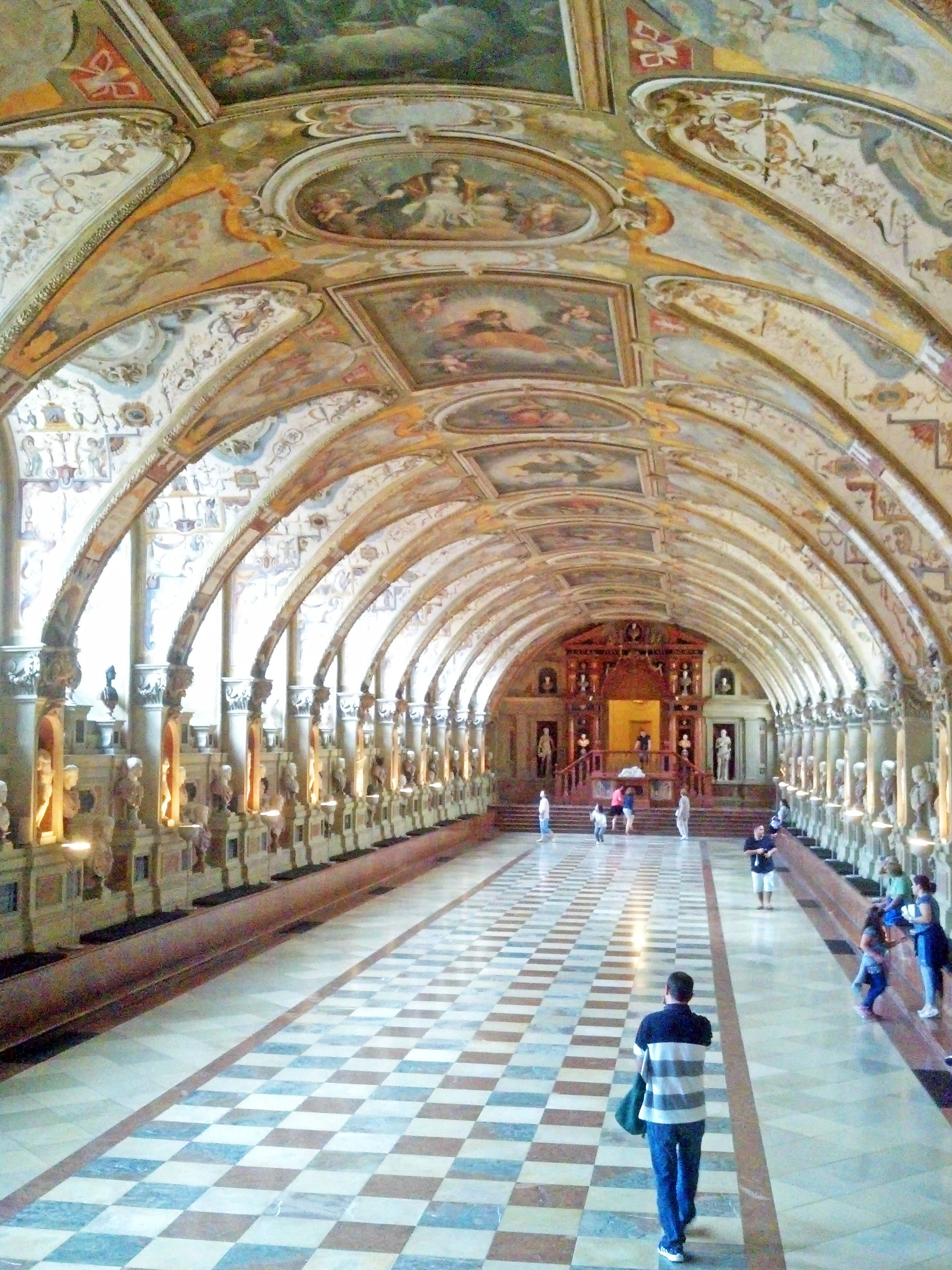 The massive ornate Antiquarium.