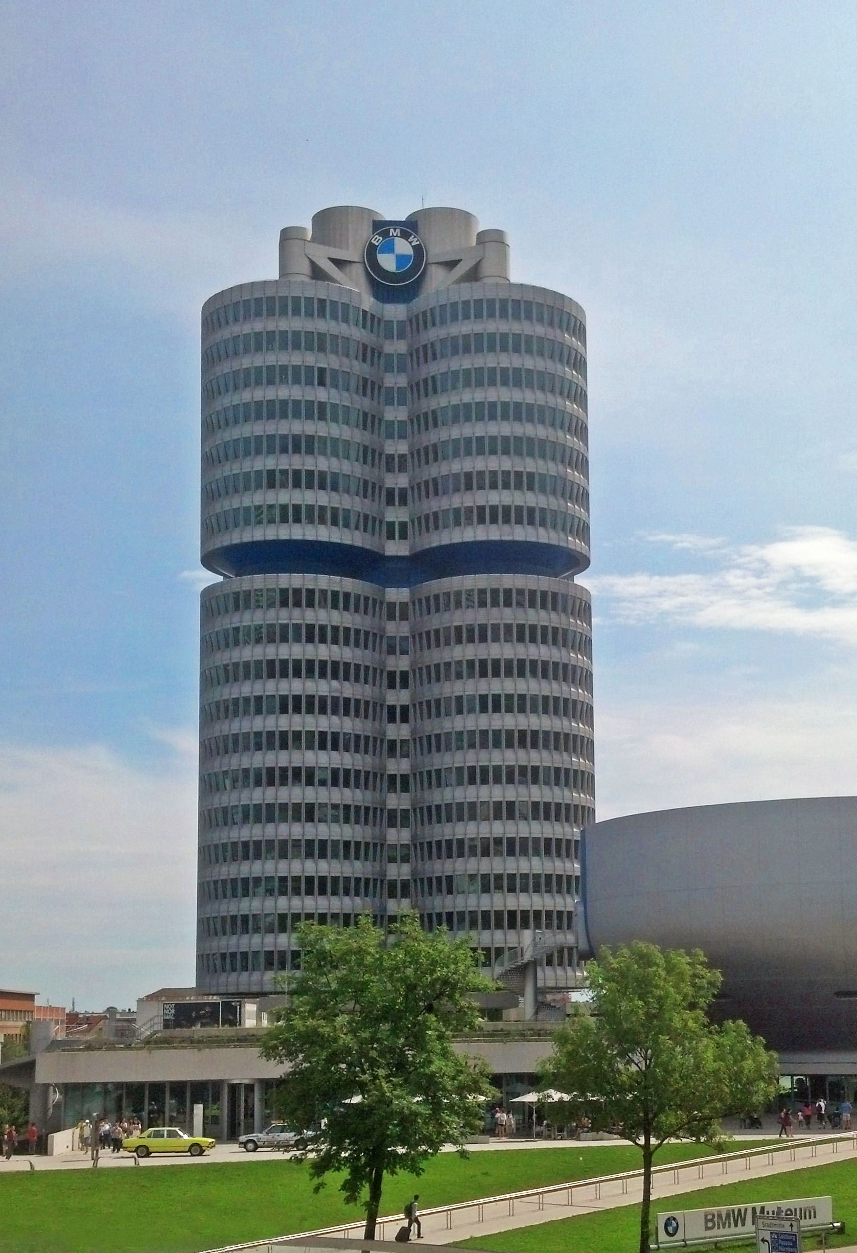 The BMW corporate headquarters located north of Munich.