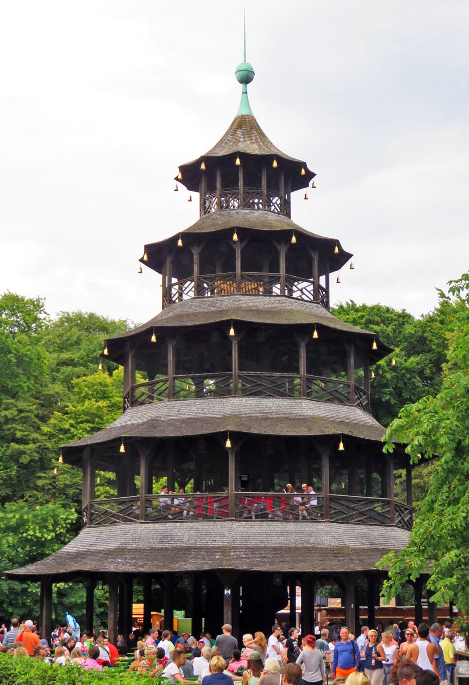 Chinesischer Turm beer garden in the English Garden.