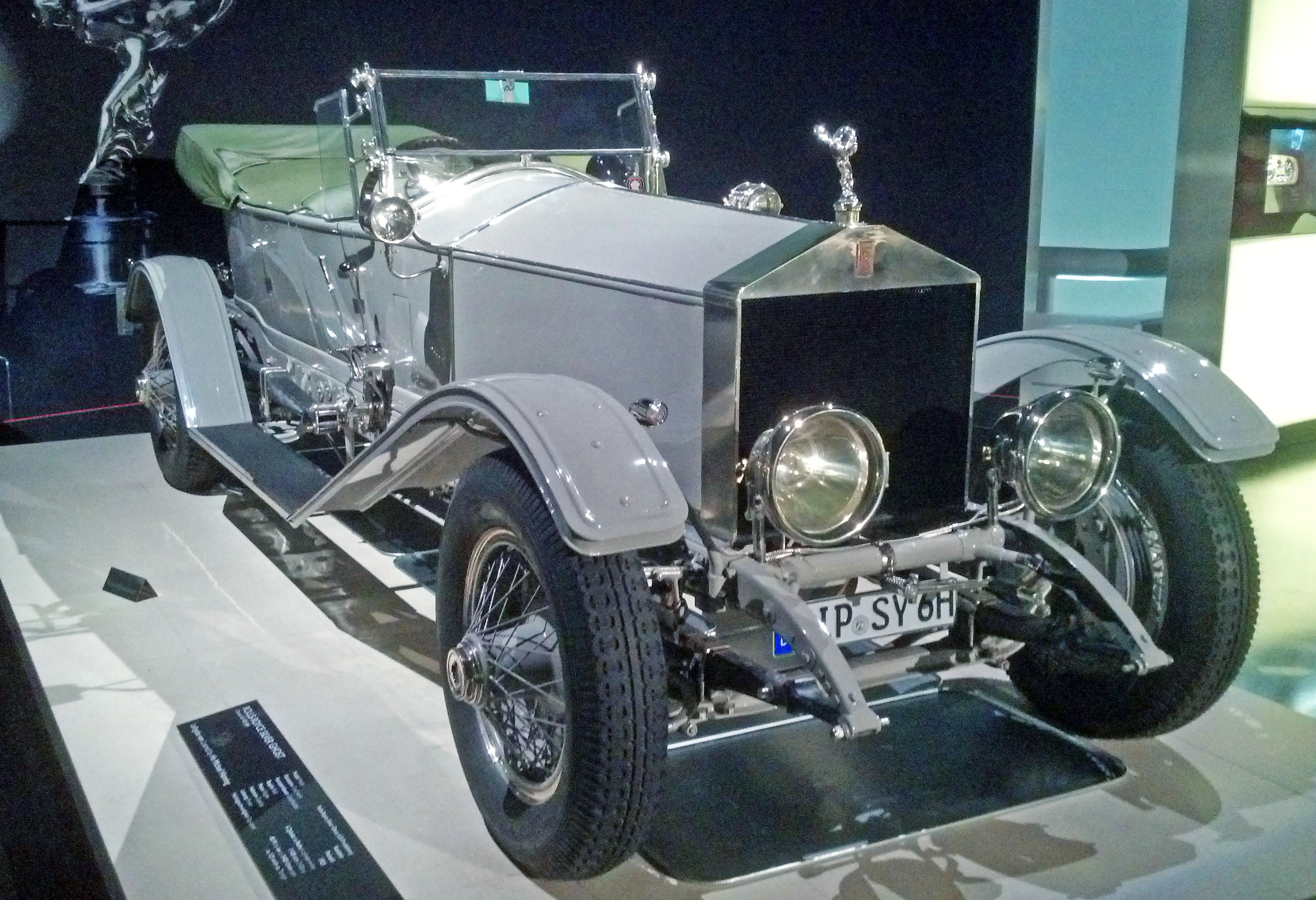 A vintage Rolls Royce.