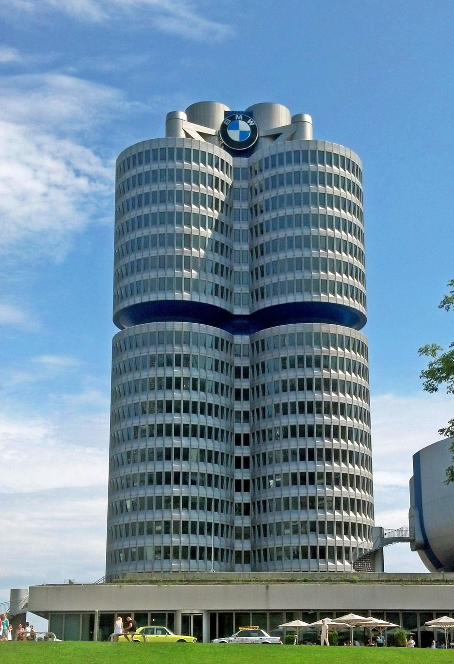The BMW corporate headquarters north of Munich.