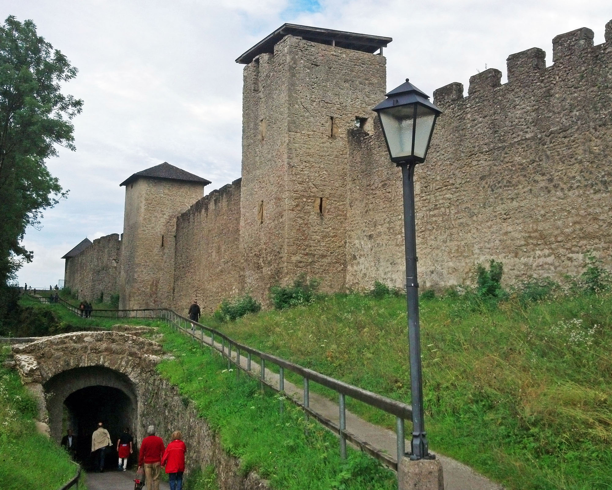 Medieval city walls dating back to 1470.