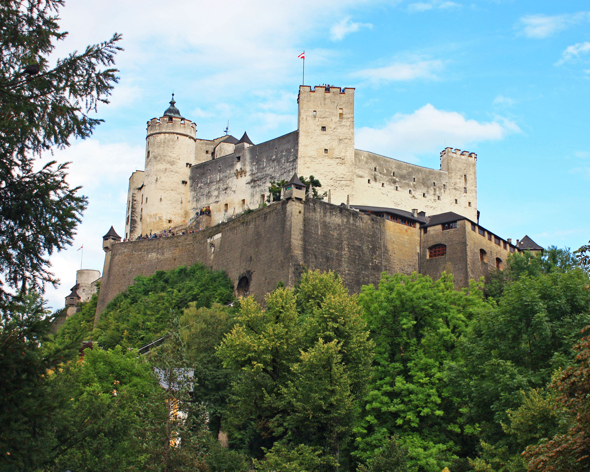 A view of Hohensalzburg Fortress.