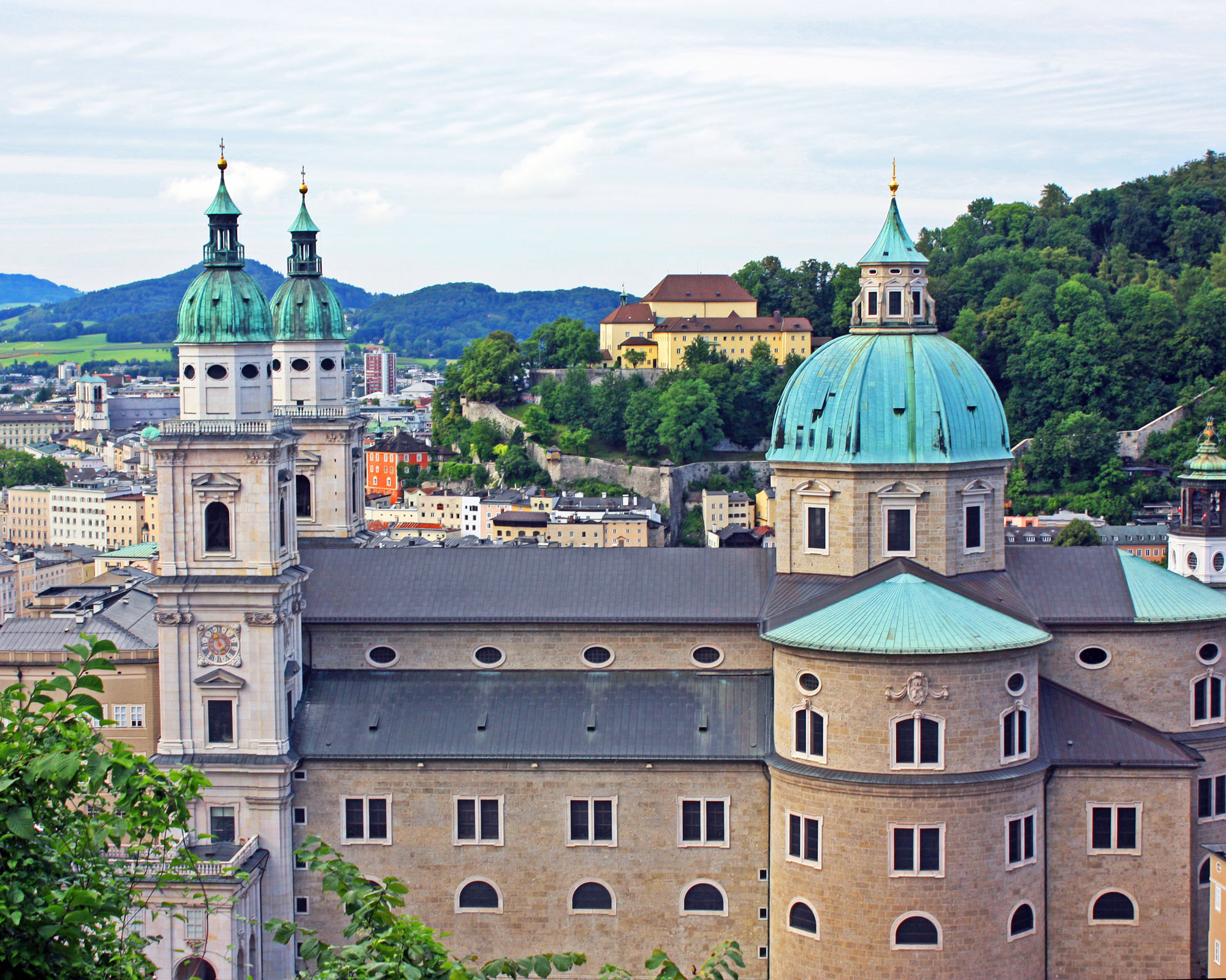 A view of the Salzburg Cathedral from the fortress.