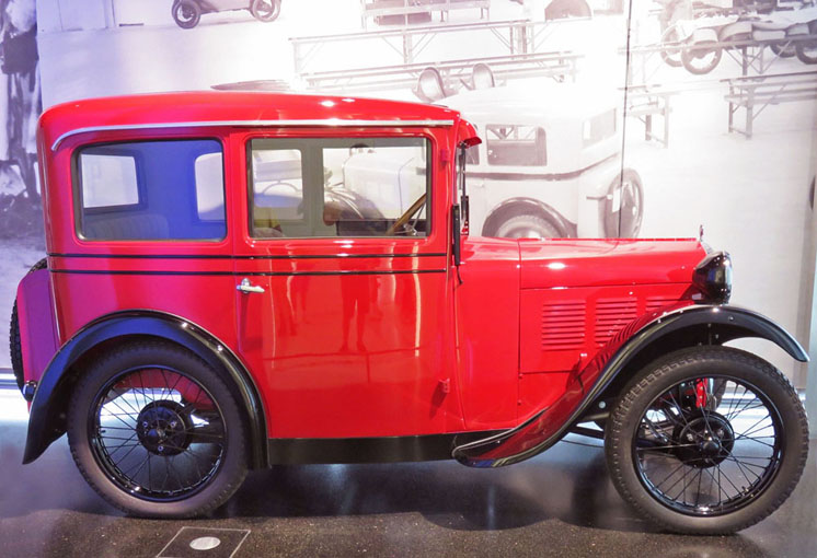 One of the first BMW cars.