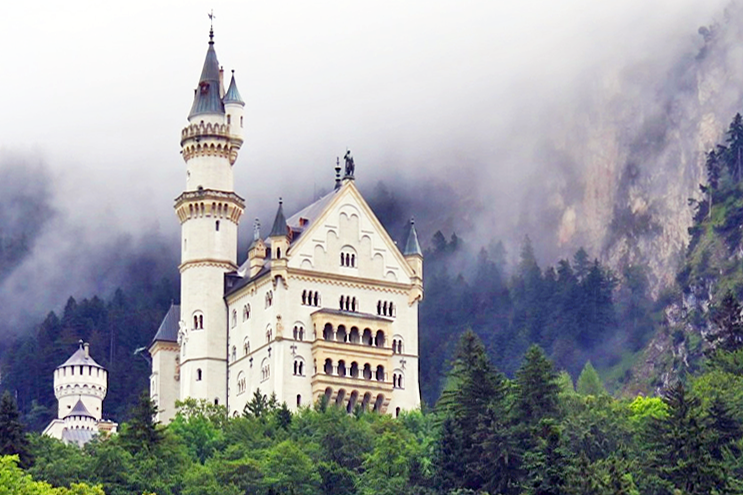 King Ludwig's fairy-tale castle, Neuschwanstein.