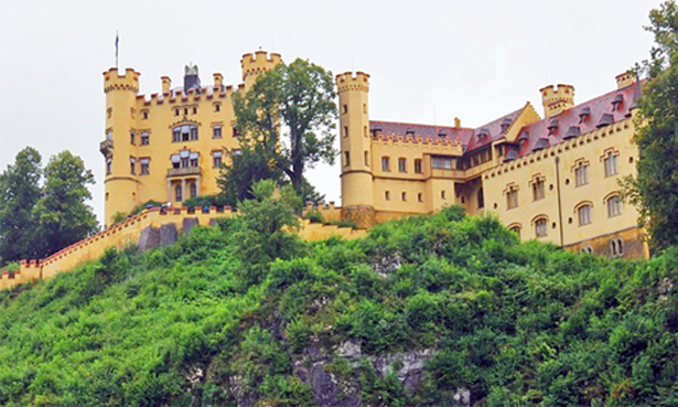 Hohenschwangau Castle, King Ludwig's boyhood home.