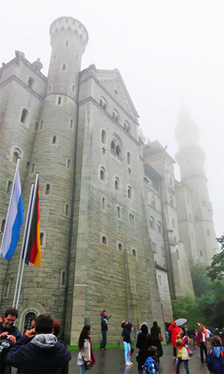 Near the entrance to Neuschwanstein Castle.
