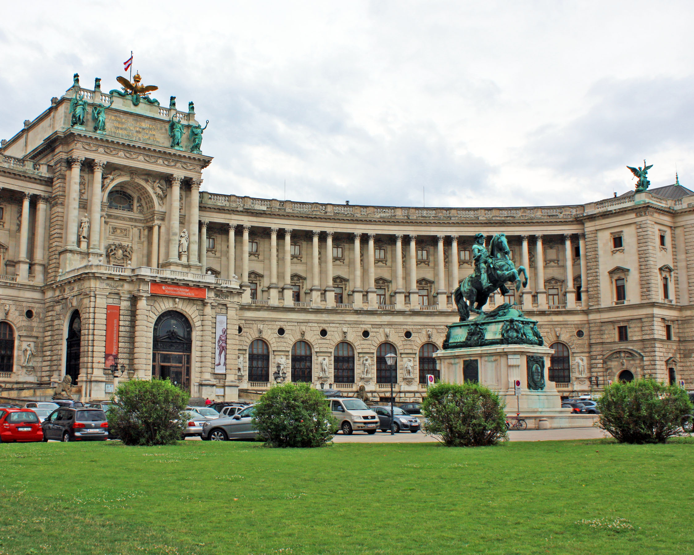 The Austrian National Library, located in the Hofburg Palace.