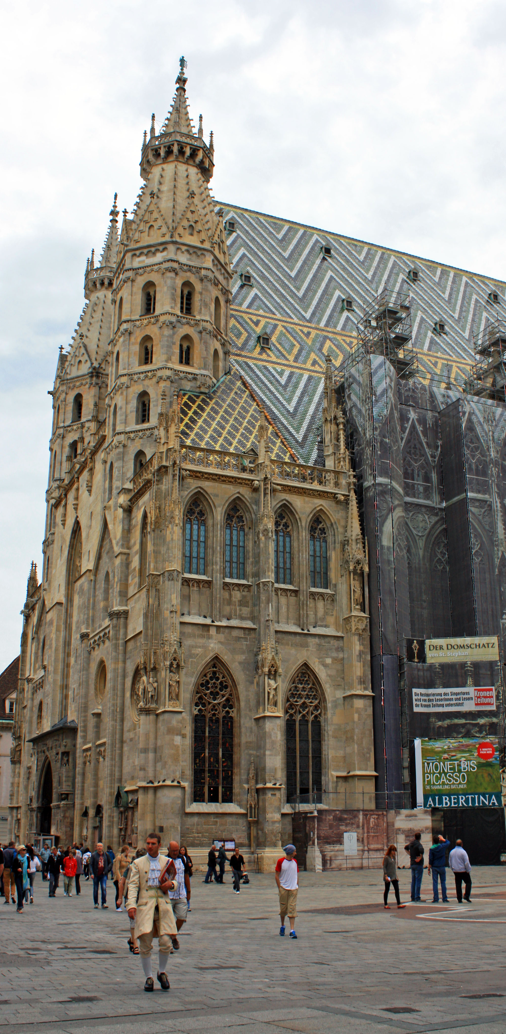 St. Stephen's Cathedral, a Gothic church in Vienna's city center..